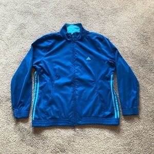 Adidas Windbreaker Jacket Blue